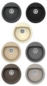 SCHOCK MANHATTAN R-100 Gránit mosogatótálca Inox-12, Croma-42, Onyx-10, Moonstone-08, Crema-14