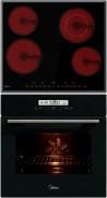 MIDEA MC-HF645 - ATE40030 Beépíthető sütő üvegkerámia főzőlap szett fekete üveg
