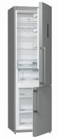 GORENJE NRK 6203 TX Alulfagyasztós kombinált hűtő inox ajtó, ezüst oldalak
