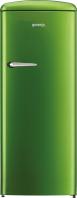 GORENJE ORB 152 GR Rusztikus egyajtós hűtőszekrény fagyasztóval lime zöld