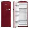 GORENJE ORB 152 R-L Rusztikus egyajtós hűtőszekrény fagyasztóval burgundi vörös
