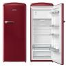 GORENJE ORB 152 R Rusztikus egyajtós hűtőszekrény fagyasztóval burgundi vörös