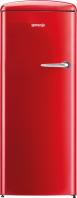 GORENJE ORB 152 RD-L Rusztikus egyajtós hűtőszekrény fagyasztóval tűzpiros tűzvörös