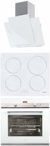 CATA PODIUM 600 XGWH - IB 604 WH - CDP 780 AS WH Beépíthető sütő indukciós főzőlap páraelszívó szett fehér üveg