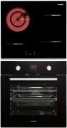 NODOR R 46 B - D 7008 DT BK Beépíthető sütő üvegkerámia főzőlap szett fekete