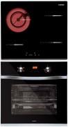 NODOR R 46 B - DECOR 700 DT AC BK Beépíthető sütő üvegkerámia főzőlap szett fekete