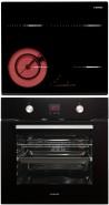 NODOR RDOS 46 B - D 7008 DT BK Beépíthető sütő üvegkerámia főzőlap szett inox