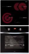 NODOR RDOS 46 B - DECOR 700 DT AC BK Beépíthető sütő üvegkerámia főzőlap szett fekete