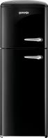 GORENJE RF 60309 OBK-L Rusztikus felülfagyasztós kombinált hűtő fekete