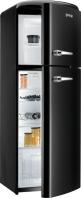 GORENJE RF 60309 OBK Rusztikus felülfagyasztós kombinált hűtő fekete