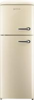GORENJE RF 60309 OC-L Rusztikus felülfagyasztós kombinált hűtő Krém -pezsgő