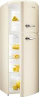 GORENJE RF 60309 OC Rusztikus felülfagyasztós kombinált hűtő Krém -pezsgő