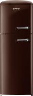GORENJE RF 60309 OCH-L Rusztikus felülfagyasztós kombinált hűtő Étcsokoládé barna