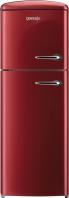 GORENJE RF 60309 OR-L Rusztikus felülfagyasztós kombinált hűtő burgundi vörös