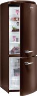 GORENJE RK 60359 OCH Rusztikus alulfagyasztós kombinált hűtő Étcsokoládé barna