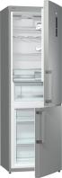 GORENJE RK 6192 LX Alulfagyasztós kombinált hűtő inox ajtó, ezüst oldalak