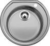 BLANCO RONDOVAL szövetmintás Kerek medencés mosogatótálca szövetmintás inox