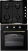 SIMFER RUSTIC 105230 - RUSTIC 105228 Rusztikus beépíthető sütő gázfőzőlap szett antracit