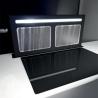 SIRIUS S-DD12 Smooth TC fekete 870 Pultba építhető páraelszívó inox