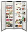 LIEBHERR SBSesf 7212 Side by Side SmartSteel inox ajtó, ezüst oldalak