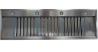 SIRIUS SL 909 1400/800 Álkürtőbe építhető páraelszívó inox