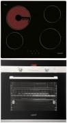 CATA T 604 - CDP 780 AS BK Beépíthető sütő üvegkerámia főzőlap szett fekete/inox