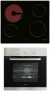 CATA T 604 - CME 6006 X Beépíthető sütő üvegkerámia főzőlap szett fekete/inox