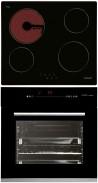 CATA T 604 - HGR 110 AS BK Beépíthető sütő üvegkerámia főzőlap szett fekete/inox