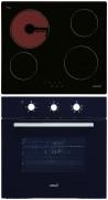 CATA T 604 - LC 860 BK Beépíthető sütő üvegkerámia főzőlap szett fekete/inox