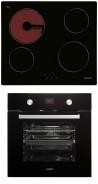 CATA T 604 - MD 7009 BK Beépíthető sütő üvegkerámia főzőlap szett fekete/inox