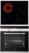 CATA T 604 C - CDP 780 AS BK Beépíthető sütő üvegkerámia főzőlap szett fekete/inox