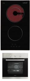 CATA TD 302 - CME 6006 X Beépíthető sütő üvegkerámia főzőlap szett fekete/inox