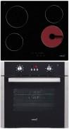 CATA TN 604 - LC 890 D BK Beépíthető sütő üvegkerámia főzőlap szett fekete/inox