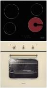 CATA TN 604 - MR 608 I IVORY Rusztikus sütő üvegkerámia főzőlap szett ivory/topázbézs