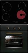 CATA TN 604 - MR 608 I N Rusztikus sütő üvegkerámia főzőlap szett fekete