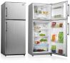 SILVERLINE VENTA 2X Felülfagyasztós kombinált hűtő ezüst oldalak / inox ajtó